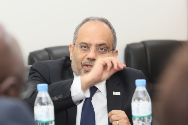 M. Carlos Lopes devant les chefs d'agences des nations unies au Togo